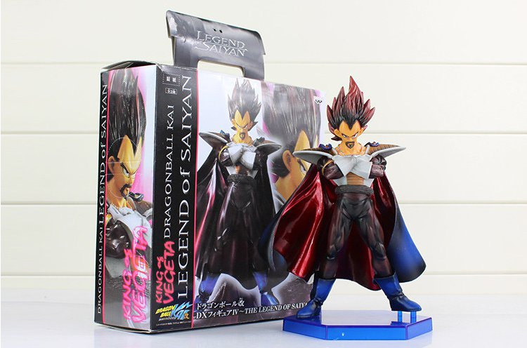 22cm Anime Dragon Ball Z Action Figure Vegeta King Vegeta's Father Model Doll Legend of Saiyan (Box)