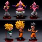 6pcs/set Japanese Anime Dragon Ball Z Majin Buu Gotenks Saiyan Son Goku
