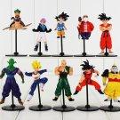 10pcs/lot Dragon Ball Z GT Figure Toy Goku Vegeta Goten Cell Frieza Piccolo Master Roshi (A)