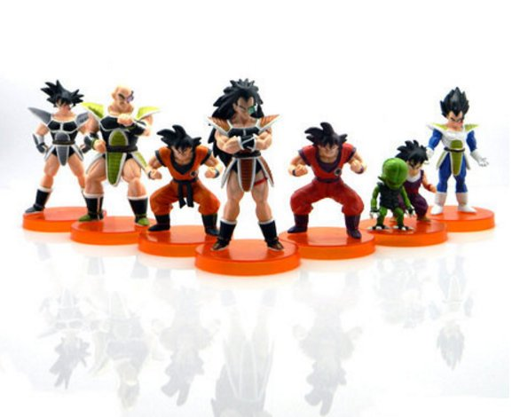 7pcs/lot Dragon Ball Z Toy Figures 28th Goku Vegeta Figure toys