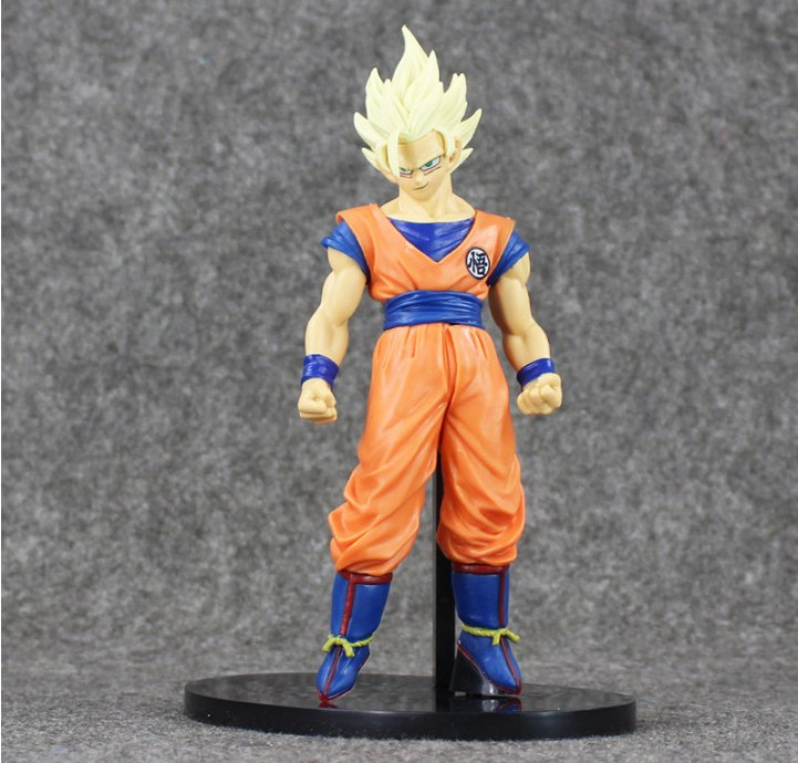 20cm Anime Dragon Ball Z Banpresto SCultures Super Saiyan 2 Son Gokou