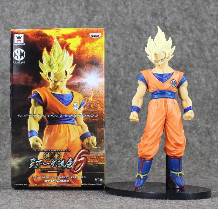 20cm Anime Dragon Ball Z Banpresto SCultures Super Saiyan 2 Son Gokou with box
