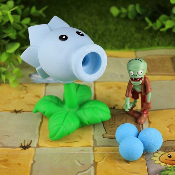 2017 new game swept the world of plants and Zombies new popular (Army Green)