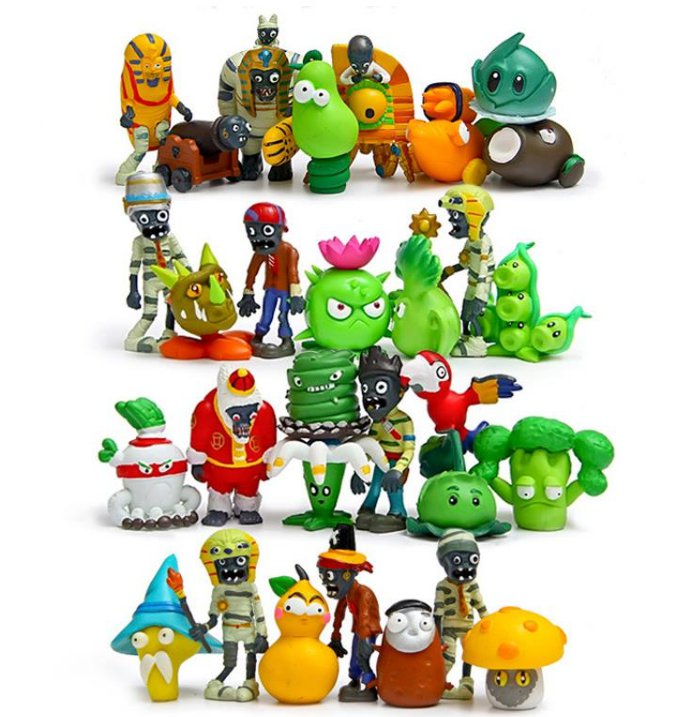 30pcs/lot Plants vs Zombies Figures Toys PVZ Plants and Zombies