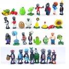 32pcs/lot Plants vs Zombies PVC Figures Toys 3-8cm PVZ Crazy Party Version Plants + Zombies