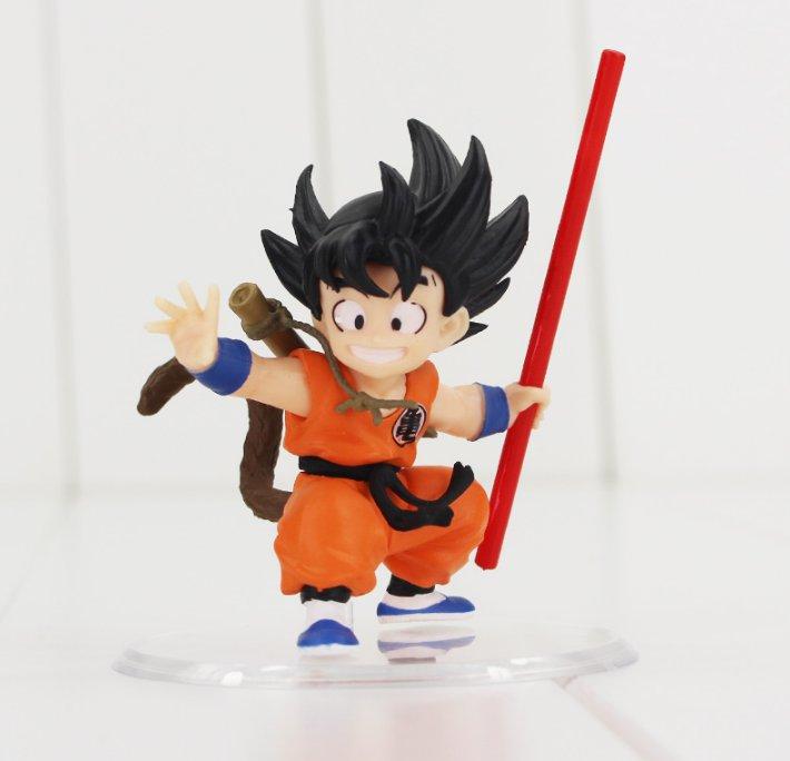 7cm Dragon Ball Z Figure Toy Son Goku Gokou Childhood Riding Somersault Cloud Pose Dragonball