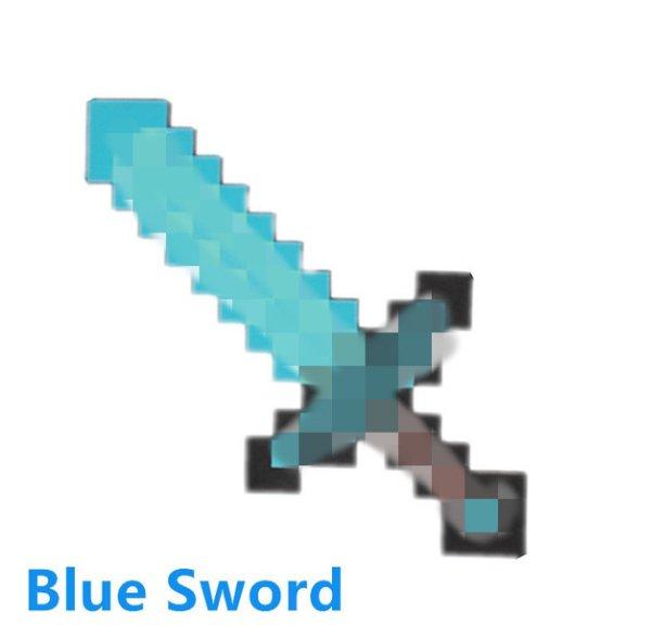 Minecraft Toys Foam Diamond Blue Sword EVA Toys