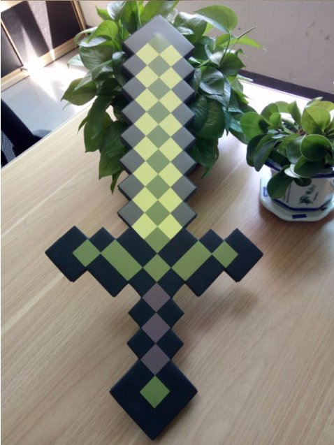 60cm Minecraft Toys Minecraft Sword EVA Model Toys Action Figures Toys (Green)