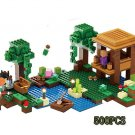 New Lepin 500pcs My World Minecraft The Witch Hut anime Building Blocks Bricks fun Toys