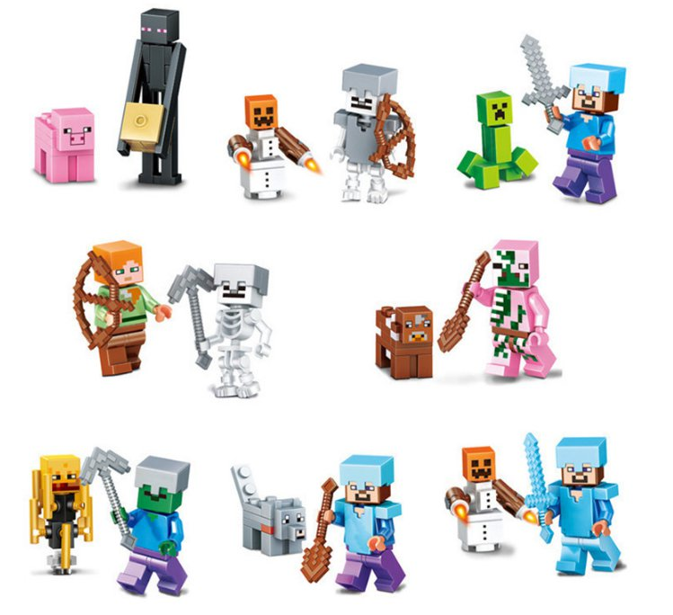 2017 Brand Compatible My World Minecrafted Toys Steve Zombie Enderman Ghast (1308)