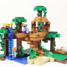 Model building kits compatible with lego my worlds Minecraft The Jungle Tree House model
