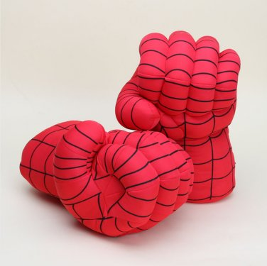 10inch Hot sale Incredible Spider Man Smash Hands Plush Gloves Performing Props figure Toys