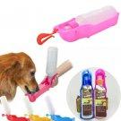 250ML Plastic Foldable Pet Dog Cat Travel Water Drinking Feeder Bottle Bowl