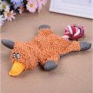 Pet Dog Toy Soft Plush Cute Papa Duck Puppy Cat Chewing Squeaker Toy (Orange)