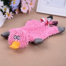 Pet Dog Toy Soft Plush Cute Papa Duck Puppy Cat Chewing Squeaker Toy (Pink)