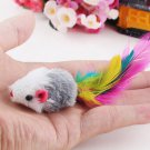 5pcs/lot Funny False Mouse Rat Toys for Cat Kitten Colorful Plush Mini Mouse Toys
