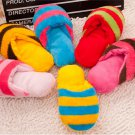 Cute Puppy Fad Magnetic Dog Toy Pet Chew Play Squeaker Sound Plush Slippers
