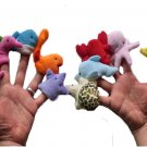 10PC/Set Cute Cartoon Animal Finger Puppet Plush Toys Baby Favor Dolls Hand Puppet