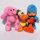 4pcs/lot New Kids Brinquedos Gift POCOYO Elly Pato POCOYO Loula Stuffed Plush Toys