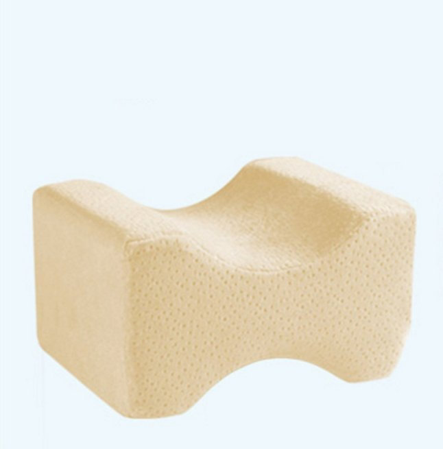 Knee Pregnance Pillow & Spine Foam Wedge Leg Cushion Sciatic Body Sleeping Pillow (Yellow)