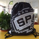 35*45 cm digital printing San Antonio Spurs drawstring backpack Metal Grommets