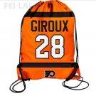 28th Giroux love player school sport bag Philadelphia Flyers Player Drawstring Backpack