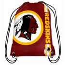 35*45 cm Washington Redskins logo drawstring backpack for outdoor sports use with grommets