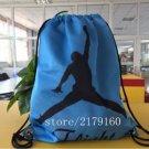 35*45 cm basketball logo sports knitted polyester drawstring backpack Metal Grommets