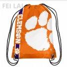 35*45 cm NCAA Drawstring Backpack - Clemson University Octer knitted polyester sports backpack