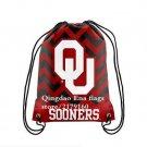 35*45 cm NCAA Oklahoma Sooners Forever Drawstring Backpack fan flag bag sport backpack