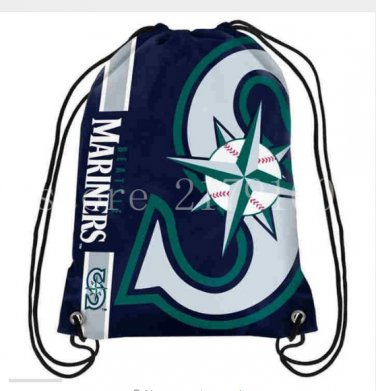Promotion 35*45 cm knitted polyester Seattle Mariners backpack sports bag