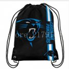 35*45 cm new product knitted polyester Carolina Panthers drawstring backpack