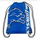 35*45 cm kundenspezifische Detroit Lions kordelzug rucksack mit strick polyester seil