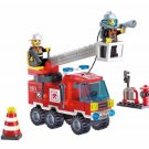 130pcs/set Fire Fighting Truck DIY Building Blocks Educational Puzzle Toys