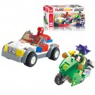 80pcs/set Children Puzzle Educational Building Blocks Toys Mini Car Motorbike Action Figure Toys
