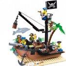 178pcs DIY Pirate Ship Building Blocks Bricks Educational Construction Boat Puzzle Toy