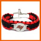 NFL TAMPA BAY BUCCANEERS SUPER BOWL SPORTS BRACELET ADJUSTABLE SURVIVAL