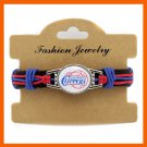 NEW LOS ANGELES CLIPPERS TEAM GENUINE LEATHER BRACELET BASKETBALL