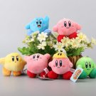 6 Pcs/Set Star Kirby Plush Toys Cute Keychain Popopo Small Pendant Dolls Kids Gift 7cm