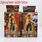 2pcs/set 17cm Anime One Piece Luffy + Ace PVC Action Figure Model Toys