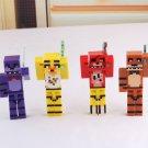 4pcs/set Minecraft Five Nights At Freddy's 4 FNAF Foxy Chica Bonnie Freddy Action Figures