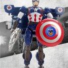 26cm The Avengers Captain America Revenge Transformation Plastic Robot Car Action Toy
