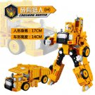 17.5cm New Arrival Classic luckyted excavator Transformation Robot Cars Action Toy (3)