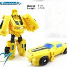 8cm Bumblebee New Arrival Mini Classic Transformation Plastic Robot Cars Action Toy