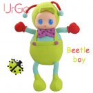 40cm Funny Creative Cute Cartoon green beetle doll plush Stuffed Toys For Children Gift