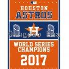 3x5ft Hot New Design USA 2017 Year Houston Astros World Series Champions Vertical Flag Custom
