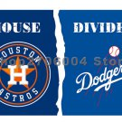 Houston Astros vs Los Angeles Dodgers 2017 World Series Champions Large Indoor Outdoor Banner