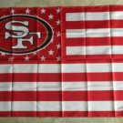 San Francisco 49ers star and stripes flag 90x150cm polyester digital print banner