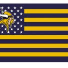Minnesota Viking stars and stripes flag 90x150cm polyester digital print banner