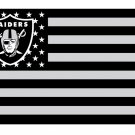 Oakland raiders Star and Stripe flag with lines 90x150cm polyester digital print banner STA